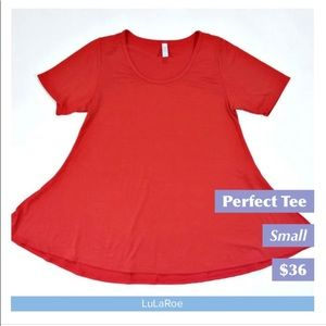NWOT! Solid Red Lularoe Perfect T- Fits Sizes 8-14